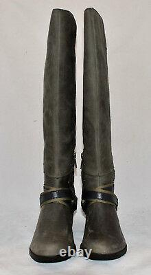 $265 SOREL Lolla Tall Waterproof Leather Knee Riding Boots Quarry Pebble New 6
