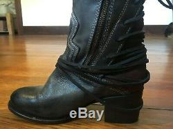 $295 Freebird By Steven Womens Coal Over The Knee Riding Boot Shoes, Ice, US 7