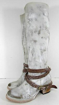 $325 Freebird By Steven Womens Canon Riding Boot Shoes, Ice, US 6