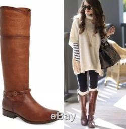 $349 Women's Frye'Melissa Seam' Tall Leather Riding Boots SZ 8 B EXTENDED CALF