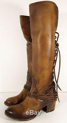 $350 Freebird By Steven Womens Coal Over The Knee Riding Boot Shoes, Tan, US 10