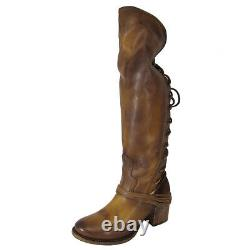 $350 Freebird By Steven Womens Coal Over The Knee Riding Boot Shoes, Tan, US 7