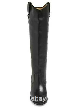 $418 Frye Jackie Button Womens Western Knee High Tall Leather Boot Black Size 10