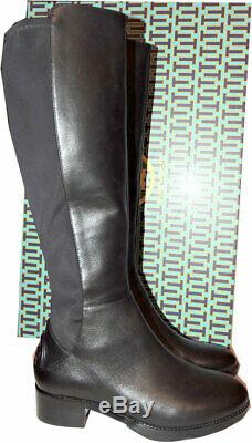 $495 Tory Burch CAITLIN Riding Boot Tall Flat Equestrian Booties Stretch 9
