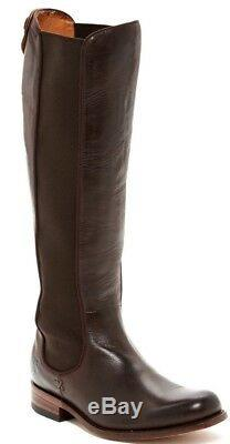 $548 Frye Women's Leather Tall Riding Chelsea Boots in Espresso Brown Size 8