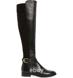 $578 Tory Burch MARSDEN Stretch Riding Boots Flat Equestrian Booties 8 Over Knee