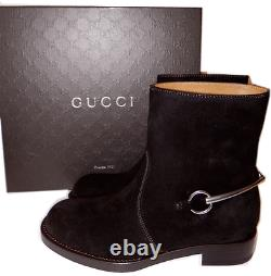 $975 Gucci Brown Susan Horsebit Ankle Riding Motorcycle Boot Bootie 40- 10