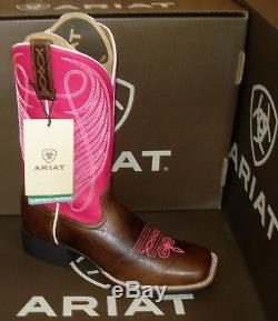 ARIAT ROUND UP women's 13 Cowboy Riding Motorcycle Square Toe Boots 7.5 8 8.5 M
