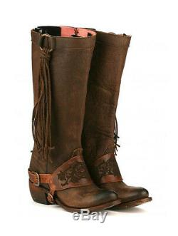 AUTHENTIC Junk Gypsy SOUTHBOUND Lane Boots Women Sz 7.5 tassel harness riding