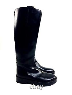 Ann Demeulemeester Boots Black Leather Tall Riding Equestrian Boots 6.5 $2195