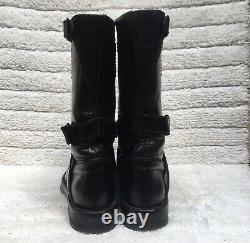 Anne Demeulemeester Black Leather Strap Boots Size EUR 37-38 USA 7-8
