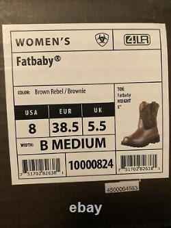 Ariat 10000824 Fatbaby Original 8 Short Wide Calf Cowgirl Fashion Riding Boots
