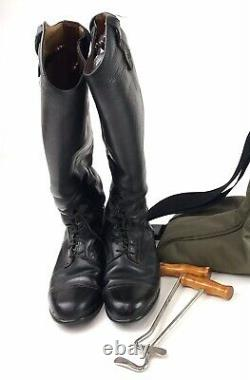 Ariat Dressage riding boots And Carry Bag Womens Size 8 1/2 Black