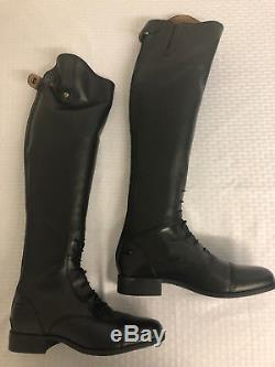 Ariat Heritage Contour Field Zip Tall Riding Boot Ladies, Black, Size 9, New