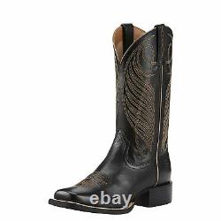 Ariat Women's Black Round-Up Square Toe Boots 10018529