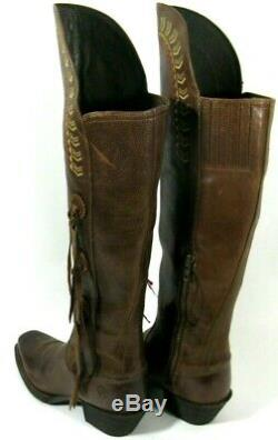 Ariat Women's Boots Cowboy Cowgirl Brown Leather Over Knee Riding 7M