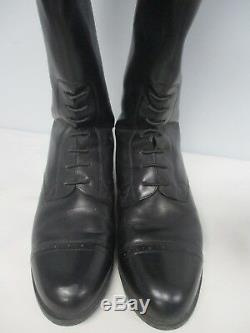 Ariat Womens Black Leather Equestrian Tall Riding Boot Size 8