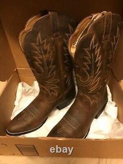Ariat Womens Heritage Brown Cowboy, Western Boots Size 9 (1537874) NIB