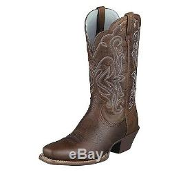 Ariat Womens Legend Square Toe Cowboy Western Brown Oiled Rowdy 10001046 15825