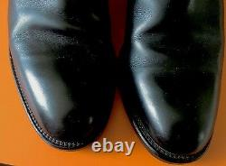 Auth Hermes Black Equestrian Kelly Boucle Ruthenium Boots $3000
