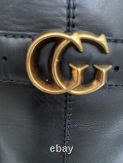 Authentic Gucci black leather boots size 9