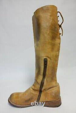 BED STU Benchmade Brown Sz 8.5 M Women Leather Riding Boots