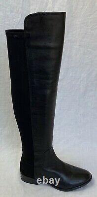 BNIB Clarks Caddy Belle Black Leather and Elastic Over The Knee Boots