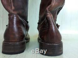 Bed Stu Cobbler Series Tango Womens 8.5 Brown Distressed Knee High Riding Boots