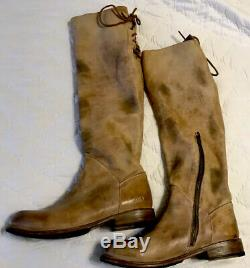 Bed Stu Manchester Women's Tan Rustic Riding Boots Knee High Size 9.5