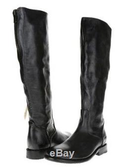Bed Stu Woman Tess Motorcycle Ridding Boots 121010 Black Glaze Leather 6 7.5 M