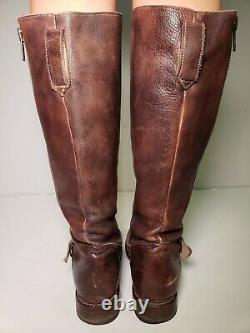Bed Stu Women's Tango Double Zip Brown Leather Tall Riding Boots 8436! Size 9M