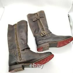Bed Stu Womens Cobbler Brown Leather Round Toe Mid Calf Riding Boots Size 8.5