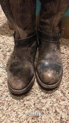 Bed Stu Womens Leather Knee Riding Boots Shoes sz 7 M