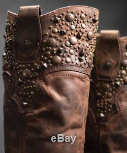 Black Star REGULUS RUST Womens Cowboy Fashion Riding Boots New All Leather