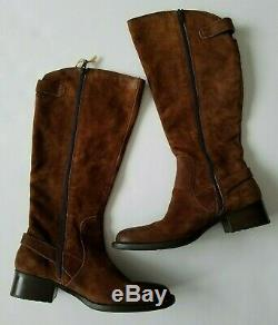 Born Cupra Women's Tall Suede Riding Boot Rust Brown Size 9.5 M NEW