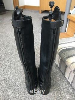 Bromont Pro H20 Insulated Waterproof Long Leather Riding Boots Size 6.5 Med Full