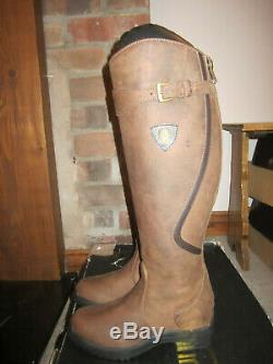 Brown Mountain Horse Snowy River Leather Riding Boot Size 5 Wide RRP £329
