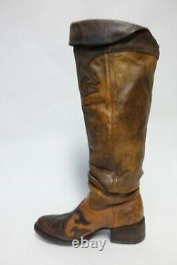 CHARLIE 1 HORSE BY LUCCHESE Knee-High Brown Sz 9 B Women Leather Slouch Boots