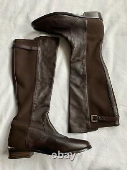 Coach Lilac Tall Brown Leather Stretch Riding Boots Shoes Size 10 B $398