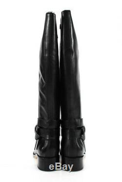 Cole Haan Grand. OS Womens Briarcliff Riding Boots Black Leather Size 6.5 B