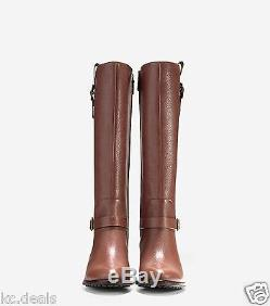 Cole Haan Kenmare Equestrian Riding Tall Boots Harvest Brown Women Shoes Multisz