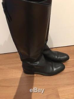 Cole Haan Womens Arlington Black Leather Knee High Riding Boots Size 11