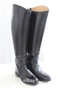 DEHNER DRESS BOOTS Riding English Ladies Black Calf Leather Custom US 7 $1260