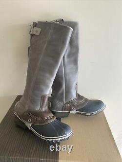 DISCONTINUED COVETED SOREL SLIMPACK TALL EQUESTRIAN Riding/Rain Boots 7 SHALE