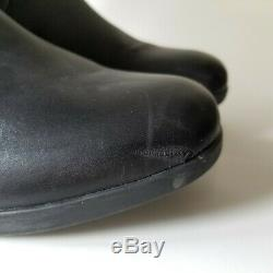 Dansko Lorna Chelsea Tall Boots Womens Size 39 Riding EVA Leather US 8.5 9 Black