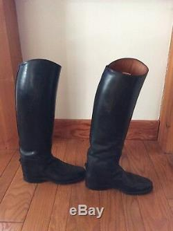 Dehner Custom Tall Riding Dressage Boots Size 7.5 Excellent Condition