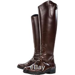 Derby House Elite Leather Womens Boots Long Riding Brown All Sizes