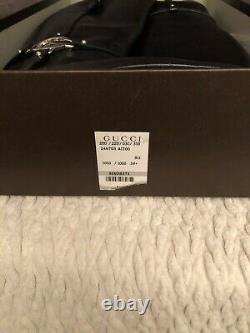EUC AUTH Gucci New Charlotte Tall Leather Riding Boot With Large Silver G 39.5
