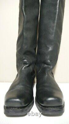 FRYE Black Leather Back Zip Over The Knee Moto Riding Boots Sz 10B