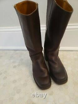 FRYE Campus Boots Womens Sz 8.5 M Mid Calf Leather USA Made Riding Biker Cowboy